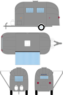 Greenlight Airstream Bambi 34010f