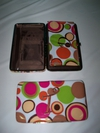 ww wallet brown dot